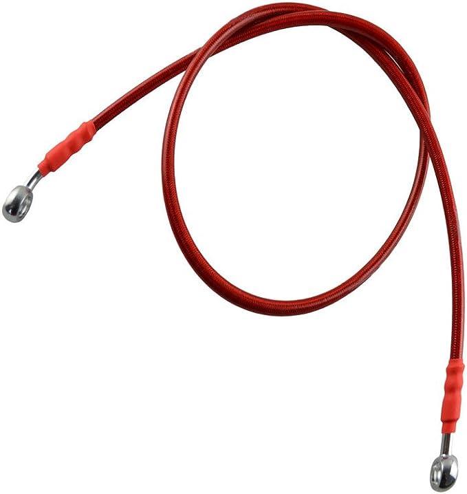Rojo AHL 230cm Colorido Motocicleta hidr/áulico de freno o embrague reforzado tubo de aceite Manguera L/ínea para moto ATV Dirt Pit Bike etc