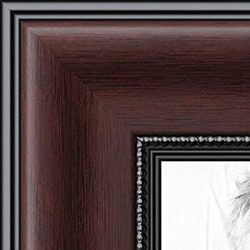 arttoframes 14x17 inch mahogany and burgundy with beaded lip picture frame 2womn9590 14x17