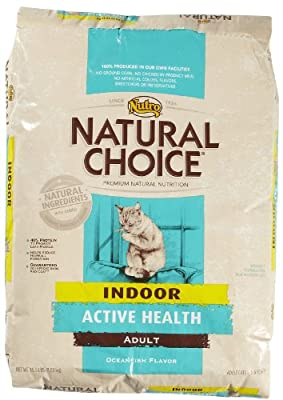 Natural Choice Oceanfish Flavor Indoor Active Health Adult Cat Food, 15-1/2-Pound from The Nutro Company
