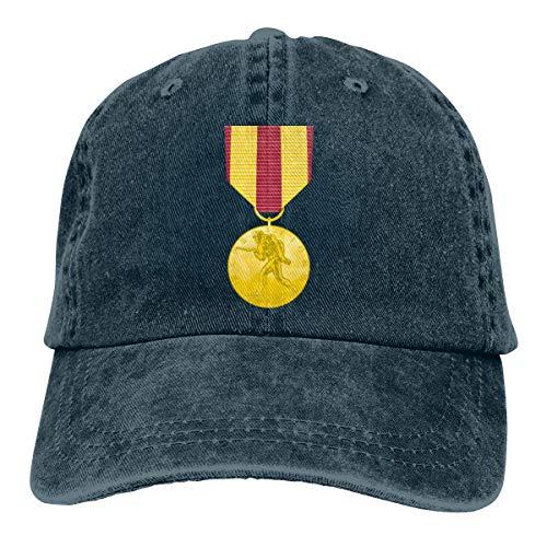 Marine Corps Expeditionary Medal Men Women Classic Cotton Denim Baseball Cap Adjustable Dad Hat Navy (Marine Navy Medal Corps Expeditionary)