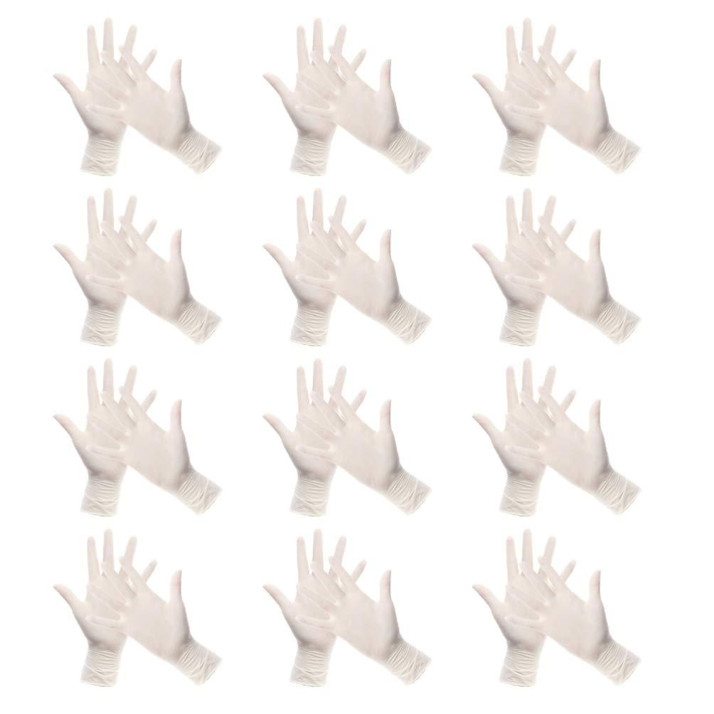 M TOPBATHY 50 Paar Einweg-Latexhandschuhe Medizinisch Klare Handschuhe f/ür Die Pr/üfung Gesundheitswesen Garten