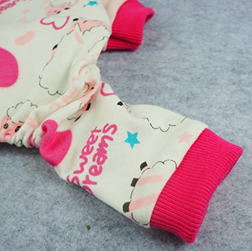 Image of Fitwarm Soft Cotton Sweet Dream Sheep Pet Clothes Dog Pajamas Clothes Shirts, Pink, X-large