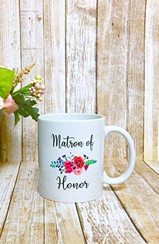 Custom Matron Of Honor Mug, Matron Of Honor Gift, Gift for Matron of Honor, Custom Matron Of Honor Gift, Maid Of Honor Coffee Mug, Mug - Floral Prada Bag