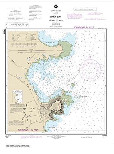 NOAA Chart 19341-Hana Bay Island of Maui- Water-Resistant - by East View Geospatial