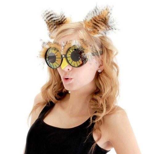 Owl Ears Costume Headband and Glasses for Women