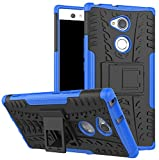 (US) Sony Xperia XA2 Ultra case,Yiakeng Dual Layer shockproof wallet Slim Protective With kickstand Phone Case Cover For Samsung Xperia XA2 Ultra Dual,Sony H4213/H4233 6