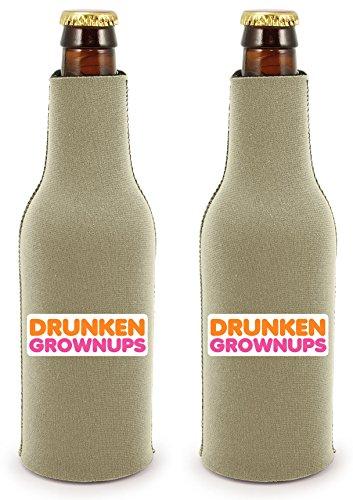 Coolie Junction Drunken Grownups Bottle Coolie Khaki 2 Pack