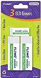 3 pack Eco Erasers 48 pcs sku# 1916138MA
