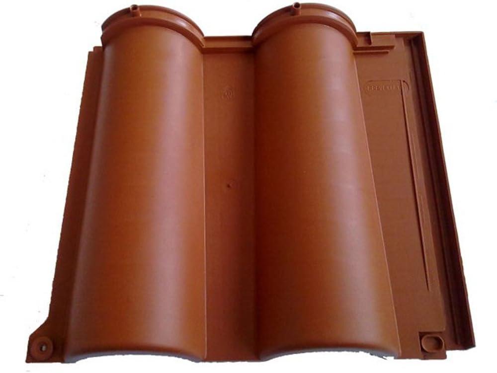 Roofy - Set de 17 tejas de color terracota