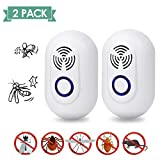 Ultrasonic Pest Repel 2 Pack, Eco-Friendly Electronic Plug in Device Ultrasonic Repellent for Mice Rats Spiders Rodents Mosquitoes Insects Safe for Human and Pets
