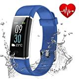 Showyoo Fitness Tracker, Color Screen Activity Tracker Heart Rate Monitor, IP68 Waterproof Sports Watch Pedometer, Sleep Monitor, Step Counter, Smartwatch Women Men Kids