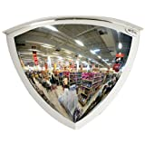 """See All PV18-90 Panaramic Full Dome Plexiglas Security Mirror, 90 Degree Viewing Angle, 18"""" Diameter (Pack of 1)"""
