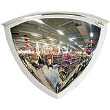 See All Panaramic Quarter Dome Plexiglas Security Mirror, 90 Degree Viewing Angle