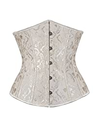 Blidece Fashion Sexy Vintage Underbust Corset Bustier With G-String S-6XL
