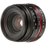 FOTGA 25mm F/1.8 Manual Focus MF Prime Lens for Panasonic Olympus Micro 4/3 Mount MFT GH1 GH2 GH3 GH4 GH5 GH5s E-PM1 E-PM2 E-PL1 E-PL2 E-PL3 E-M10 Mark II III Dslr Cameras