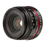FOTGA 25mm F/1.8 Manual Focus MF Prime Lens for Canon EOS EF-M Mount M M2 M3 M5 M6 M10 M50 M100 Dslr Cameras