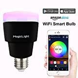 MagicLight Triangle WiFi Smart LED Light Bulb - 3rd Generation - Control Your Light Anywhere Remotely - Dimmable Multicolored Sunset Sunrise Wake Up Lights - Works with Amazon Alexa