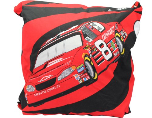 Red Dale Earnhardt Jr #8 NASCAR Throw Pillow