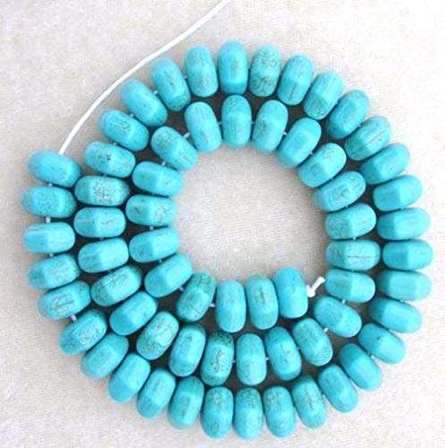 Magnesite Faceted B Grade 10mm Faceted Turquoise Rondelle Chakra Stone Beads