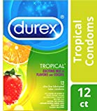 Durex Tropical Flavors Flavored Premium Condoms, 12 ct