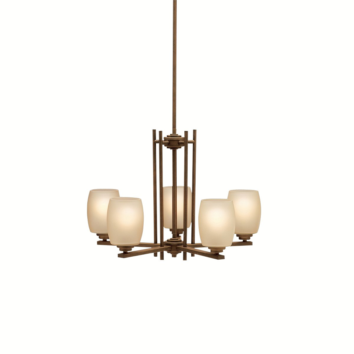 kichler lighting 1896oz eileen 5light updown chandelier olde bronze with umberetched glass amazoncom kichler lighting