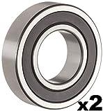 6203rs bearing - 6203-2RS Sealed Bearing - 17x40x12 - Lubricated - Chrome Steel (2 PCS)