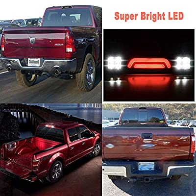 Housing Rear Third 3rd Brake Light Cargo Lamp 3D LED BAR Fit For 1993-2011 Ford Ranger / 1999-2016 Ford F250 F350 Super Duty (Smoke Lens): Automotive