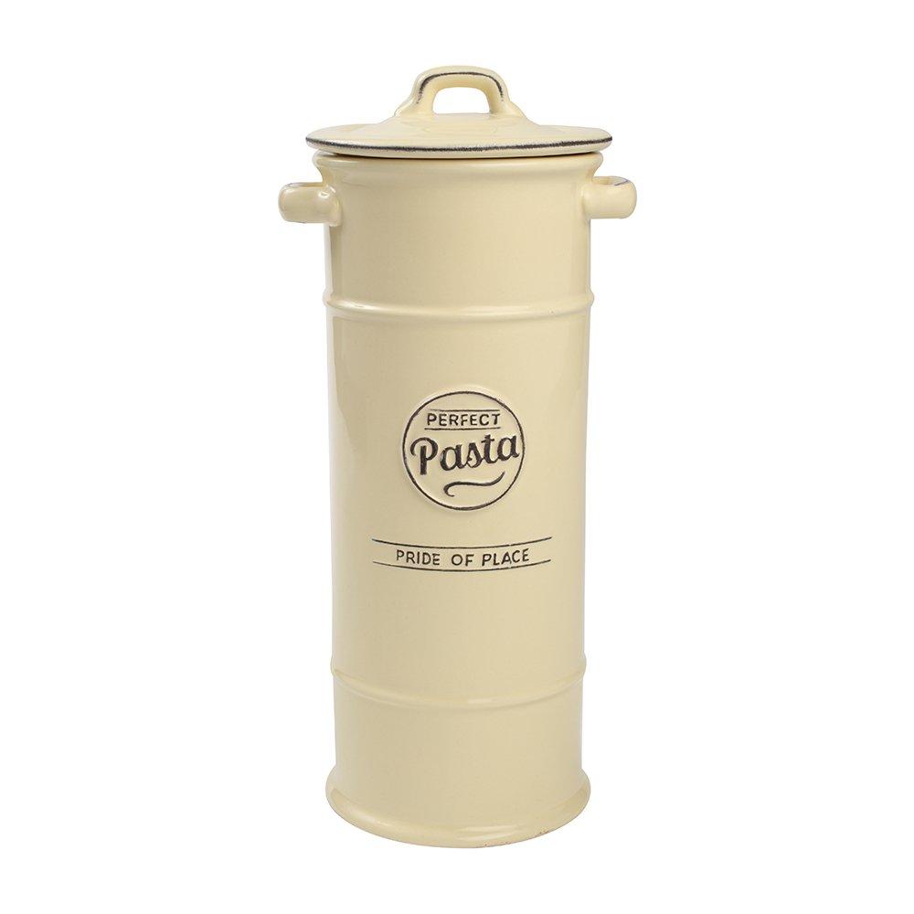 T&G 18037, barattolo in ceramica porta spaghetti con scritta Perfect pasta, pride of place [lingua italiana non garantita]; color crema T&G Woodware