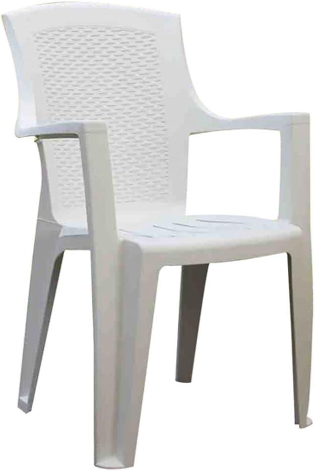 PROGARDEN 8330005 - Silla Resina ratán, Respaldo Alto, Eden, Color Blanco