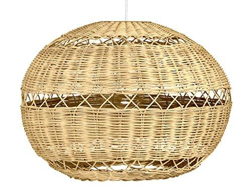 Wicker Ball Pendant Light