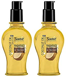 Suave Professionals Damage Repair Oil Treatment, Coconut Infusion, 3 Ounce (Pack of 2)