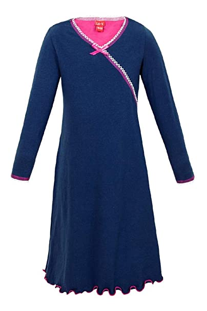 La-V pijama bata para chica de manga larga, rosa: Amazon.es: Ropa y accesorios