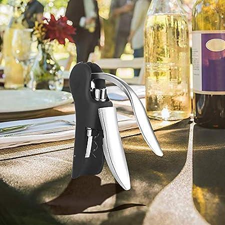 RENSLAT Set de herramientas de vino Abre de vino Palanca de barra de barra sacacorchos Convenientes abridores de botellas Foil Cutter Cortador de corcho Neumático Perfor Lifter Levantador de vino abri