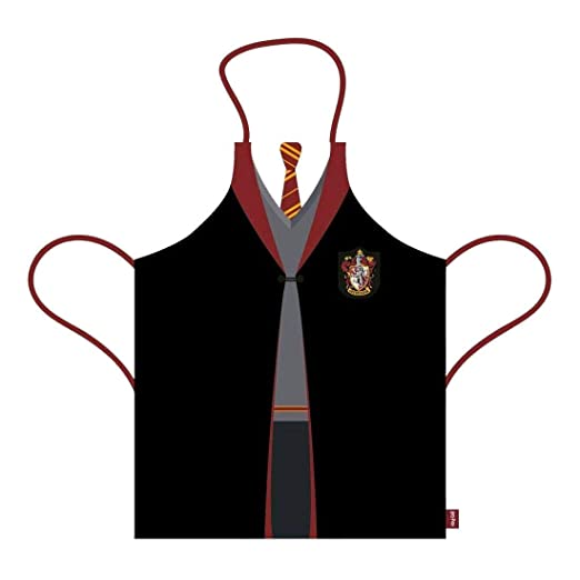 Half Moon Bay APRNHP01 - Delantal de Harry Potter Gryffindor, Algodón, Rojo