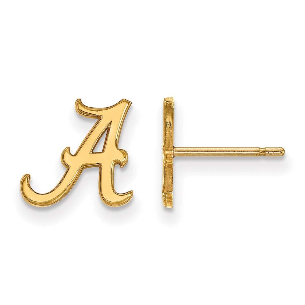 Lex /& Lu LogoArt 10k Yellow Gold University of Alabama XS Post Earrings LAL130755