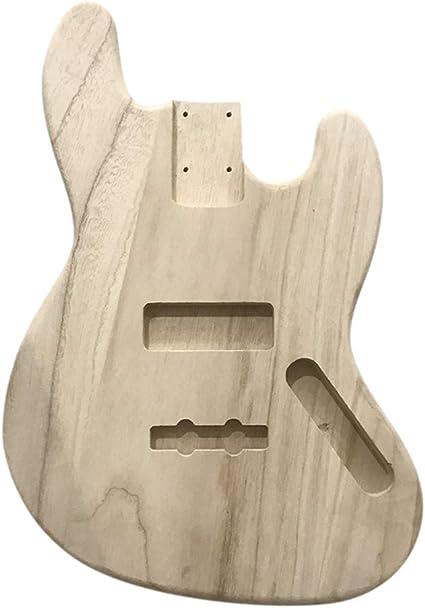 Muslady DIY Guitar Body,Polished Wood Type Electric Guitar Barrel Maple For JB Style Bass Guitar