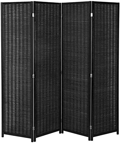 Paneles plegables de mimbre, para privacidad, división, negro, 5: Amazon.es: Hogar