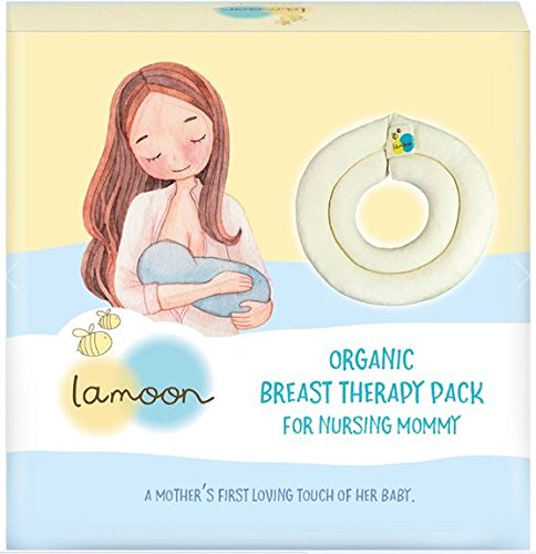 Organic Breast Therapy Pack for Nursing Mommy Hot Pad Engorgement, encourage Let-Down and increase Milk Production, Boob-Ease Soothing Therapy Pillows -
