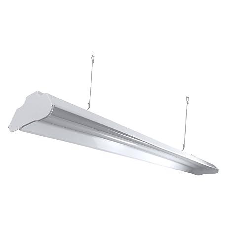 Archipelago Utility LED Shop Light, 4FT Integrated LED Shop Light Fixture  with 5FT Cord, 36W, 3200 Lumens, 4100K (Natural White), Frosted Lens (LEDs