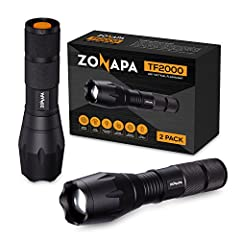 Never lose sight of where you're going or the task at hand with a water resistant, heavy-duty tactical flashlight from ZONAPA and stay confident in the darkest nights.  When the lights go out and you need a flashlight, you need reliability, d...