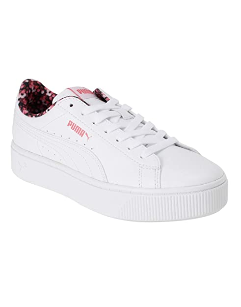 Adolescente Vaticinador musicas  Buy Puma Women's Vikky Stacked Neon Lights White-Puma White-Calypso Coral  Sneakers - 8.5 UK (42.5 EU) (11 US) (37028002_8.5) at Amazon.in