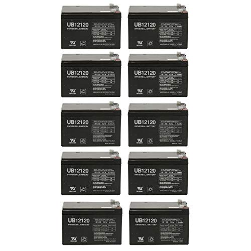 Universal Power Group 12V 12AH Battery Replaces Invacare L-4 Lynx 4 Portable Scooter - 10 Pack ()