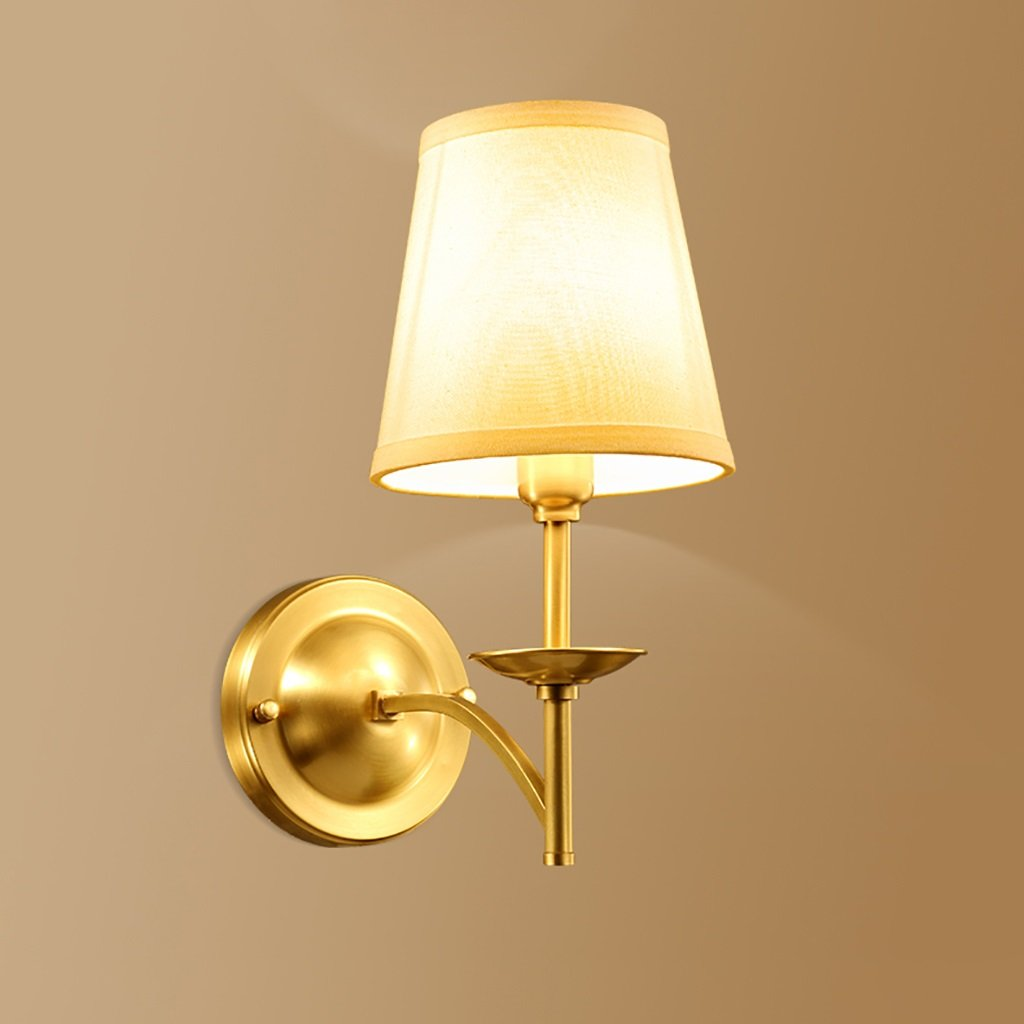 Retro Luxury Brass Wall Lamp Bedroom Bedside Lamp Mirror Front Lamp Wall Decoration Home Decoration Wall Lamp Hotel Wall Lamp by Crystal (Image #2)