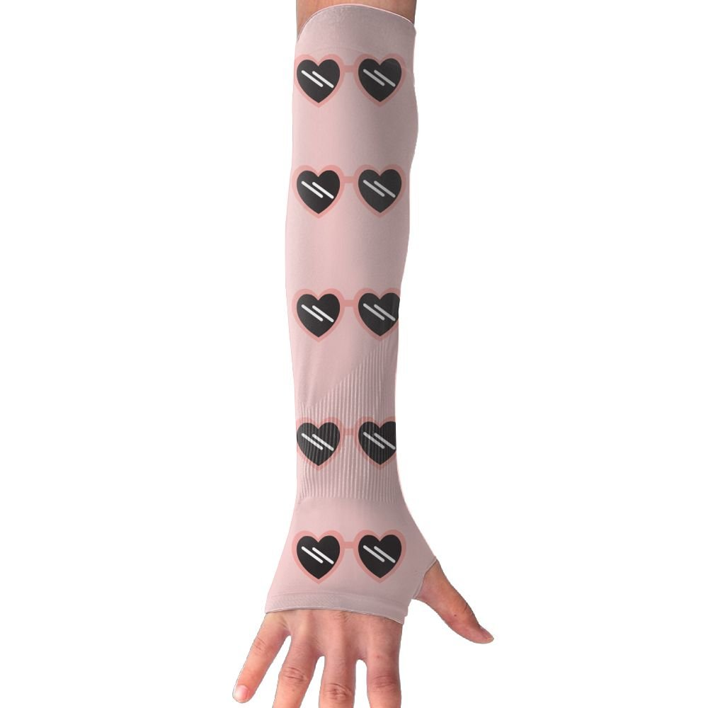 Rose Colored Glasses Gloves Anti-uv Sun Protection Long Fingerless Arm Cooling Sleeve