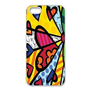 RMGT Britto Romero Britto Beach Towel Heart Design Cell Phone Case for Iphone ipod touch4