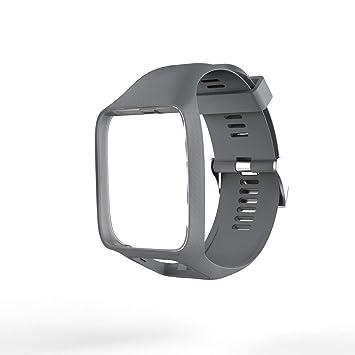 LoveOlvidoF Bracelet de Montre pour Tom Tom 2 série 3 Bracelet de Montre Bracelet en Silicone