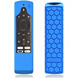 CaseBot Silicone Case for Fire TV Edition Remote - Honey Comb Series [Anti Slip] Shock Proof Cover for Amazon All-New Insignia/Toshiba 4K Smart TV Voice Remote/Element Smart TV Voice Remote, Blue