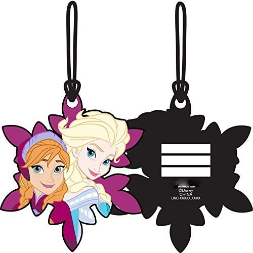 Frozen Sisters Elsa Anna Laser Cut Luggage Tag Backpack ID 4 1/2