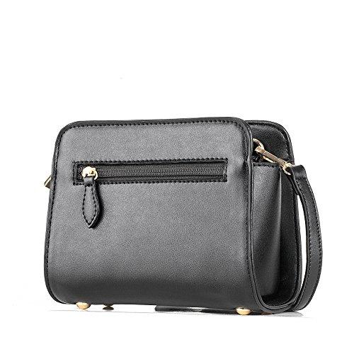 Barbie BBFB516 Bolso dulce con un lazo bolso bandolera elegante bolso bolera para mujer negro