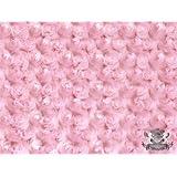 Minky Rosebud LIGHT PINK Fabric By the Yard